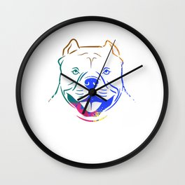 Animal Claws Dog Design For Paw Owners T-shirt Design Pitbull Paws Breed Pitbull Claws Bark Pet Dog Wall Clock