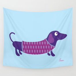 Dachshund Love Wall Tapestry