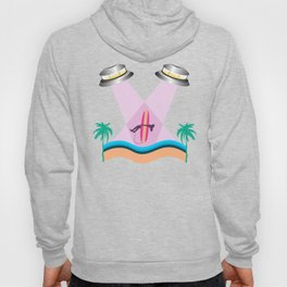 UFO surfer girl Abduction Hoody