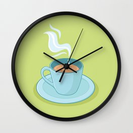 Hot Coffee, Not! Wall Clock