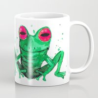 frog Mugs featuring Frog by Bwiselizzy