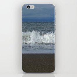 Spraying sea iPhone Skin