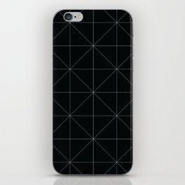 Geometric black and white iPhone Skin