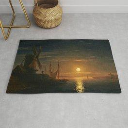 Clair de Lune sur le Dniepr by Ivan Aivazovsky Rug