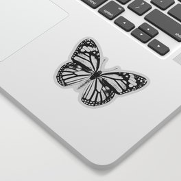 Monarch Butterfly | Black and White Sticker