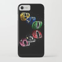 power rangers iPhone & iPod Cases featuring Mighty Morphin Power Rangers by Jelly Soup Studios