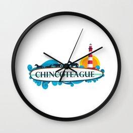 Chincoteague Island - Virgina. Wall Clock