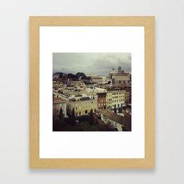 Rainy Rome Framed Art Print