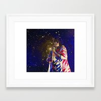 karen hallion Framed Art Prints featuring Karen O by AmelieObscura