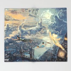 Peter Pan - The Second Star to the Right Throw Blanket