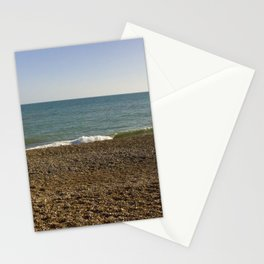 Evening Tide on a cobbled beach Stationery Cards