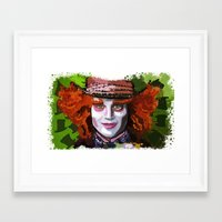mad hatter Framed Art Prints featuring Mad Hatter by grapeloverarts