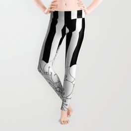 Cherry Blossom Stripes - In Memory of Mackenzie Leggings