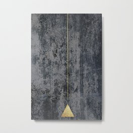 gOld triangle Metal Print