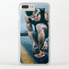 Runner on the Road Clear iPhone Case