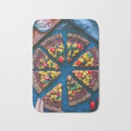 Cauliflower Vegan Pizza Bath Mat