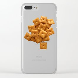 Cheese Crackers Clear iPhone Case