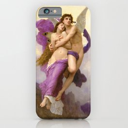 'The Abduction of Psyche' renaissance masterpiece painting by William Adolphe Bouguereau iPhone Case