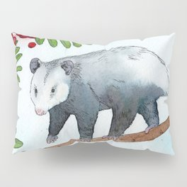 Opossum in a Rowan Tree Pillow Sham