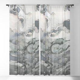 Dark Geode Sheer Curtain