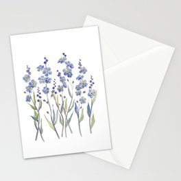 Blue Forget Me Not Blooms Stationery Cards