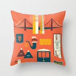 Sanfrancisco Throw Pillow
