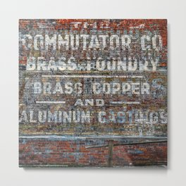 Commutator Co Brass Foundry #1 Metal Print