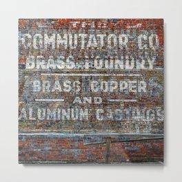 Commutator Co Brass Foundry #1 Metal Print