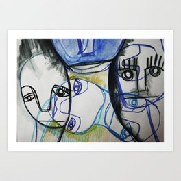 sad Art Print