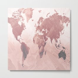 MAP-Freedom vibes worldwide  IΙ Metal Print