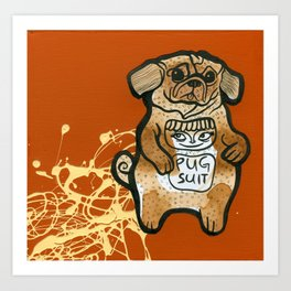 Pug Suit Art Print