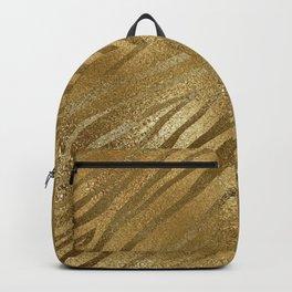 Glam Gold on Gold Tiger Stripes  Backpack
