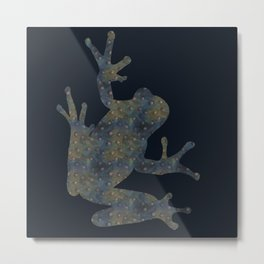 Blue-green doted frog Metal Print