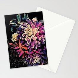 Autumn Dahlia Floral Bouquet Stationery Cards