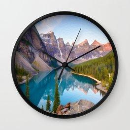 Twin Peak Lake Wall Clock