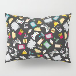 Gamer Video Game Controllers Fast Food Pattern Pillow Sham