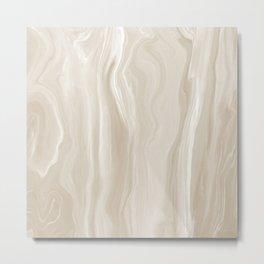 Marblesque Beige Cream 1 - Abstract Art Marble Series Metal Print