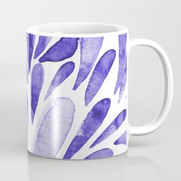 Watercolor artistic drops - electric blue Coffee Mug