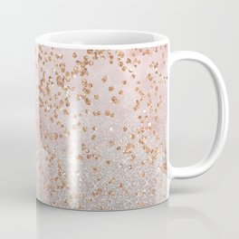 Mixed glitters on pink marble Coffee Mug