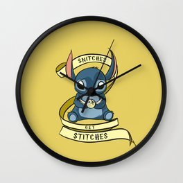 Snitches Get Stitches Wall Clock