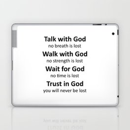 Trust in God, you will never be lost-black Laptop & iPad Skin