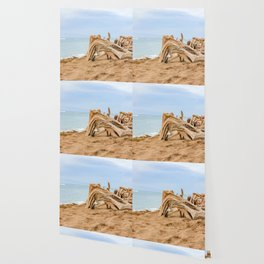 beached wood Wallpaper