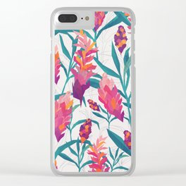 Ginger Pattern Clear iPhone Case