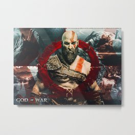 God Of War Game Metal Print