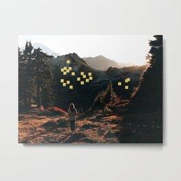 Mountain Sticky Notes Metal Print