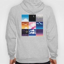 pixel clouds 3x3 Hoody