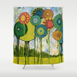 I Laughed With Joy Shower Curtain