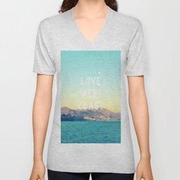 Love West Coast  Unisex V-Neck