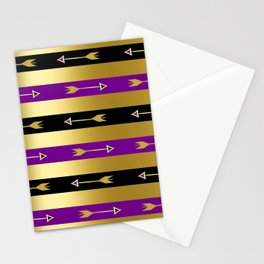 357 8 Purple & Gold Arrows Stationery Cards