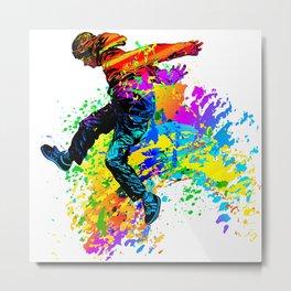 Hip hop dancer, teenager jumping, dancing Metal Print